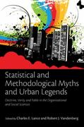 Statistical and Methodological Myths and Urban Legends 1st edition 9780805862386 0805862382
