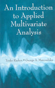 An Introduction to Applied Multivariate Analysis 0 9780203809532 020380953X