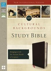 NIV, Cultural Backgrounds Study Bible, Bonded Leather, Black, Red Letter Edition 1st Edition 9780310431596 031043159X