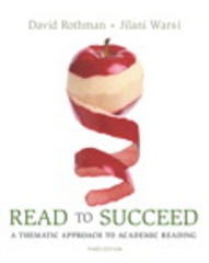 Read to Succeed 3rd Edition 9780134064468 0134064461