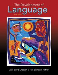The Development of Language 9th Edition 9780134161143 0134161149