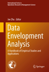 Data Envelopment Analysis 1st Edition 9781489976840 1489976841