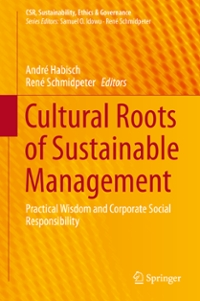 Cultural Roots of Sustainable Management 1st Edition 9783319282879 3319282875