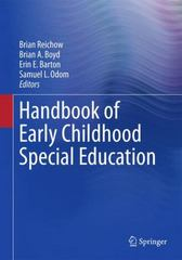 Handbook of Early Childhood Special Education 1st Edition 9783319284903 3319284908