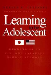 Learning to Be Adolescent 0 9780300084382 0300084382