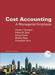 Cost Accounting 13th edition 9780136126638 0136126634