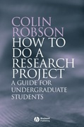 How to do a Research Project 1st edition 9781405114905 1405114908