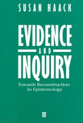 Evidence and Inquiry 1st edition 9780631196792 063119679X