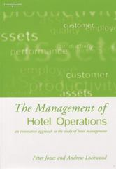 The Management of Hotel Operations 1st edition 9780826462947 0826462944