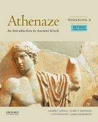 Athenaze, Book I: An Introduction to Ancient Greek 3rd Edition 9780190607692 0190607696