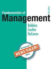 Test Bank for Fundamentals of Management 7th Edition by Robbins DeCenzo and Coulter