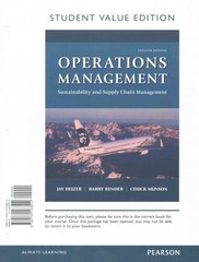 Operations Management 12th Edition 9780134163512 0134163516