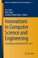 Innovations in Computer Science and Engineering 1st Edition 9789811004193 9811004196