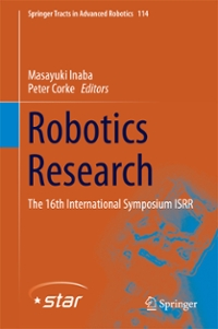 Robotics Research 1st Edition 9783319288727 3319288725
