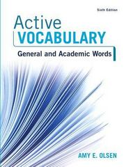 Active Vocabulary 6th Edition 9780134119694 013411969X