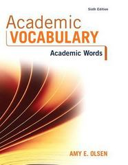 Academic Vocabulary 6th Edition 9780134445687 0134445686