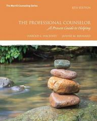 Professional Counseling 8th Edition 9780134497631 0134497635