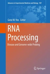 RNA Processing 1st Edition 9783319290737 3319290738