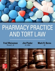Pharmacy Practice and Tort Law 1st Edition 9781259640964 1259640965