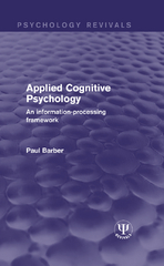 Applied Cognitive Psychology 1st Edition 9781317309376 1317309375