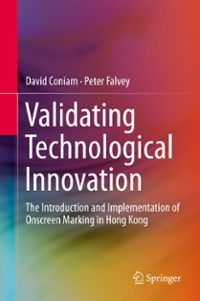 Validating Technological Innovation 1st Edition 9789811004346 981100434X