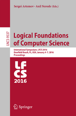 Logical Foundations of Computer Science 1st Edition 9783319276830 3319276832