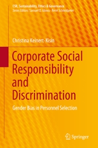 Corporate Social Responsibility and Discrimination 1st Edition 9783319291581 3319291580