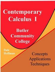 Contemporary Calculus I 1st Edition 9781518660566 1518660568