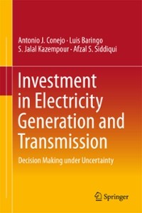 Investment in Electricity Generation and Transmission 1st Edition 9783319295015 3319295012