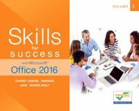 Skills for Success with Microsoft Office 2016 Volume 1 1st Edition 9780134320786 0134320786