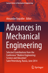 Advances in Mechanical Engineering 1st Edition 9783319295794 3319295799