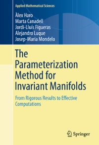 The Parameterization Method for Invariant Manifolds 1st Edition 9783319296623 3319296620