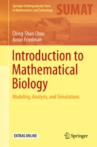 Introduction to Mathematical Biology 1st Edition 9783319296388 3319296388