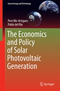 The Economics and Policy of Solar Photovoltaic Generation 1st Edition 9783319296531 3319296531