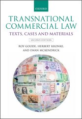 Transnational Commercial Law: Texts, Cases and Materials 2nd Edition 9780191054549 0191054542