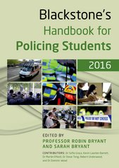 Blackstone's Handbook for Policing Students 2016 10th Edition 9780191061097 0191061093