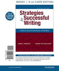 Strategies for Successful Writing, Books a la Carte Edition 11th Edition 9780134119403 0134119401