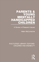 Parents and Young Mentally Handicapped Children 1st Edition 9781317299387 1317299388