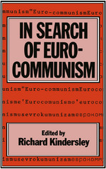 In Search of Eurocommunism 1st Edition 9781349165810 1349165816