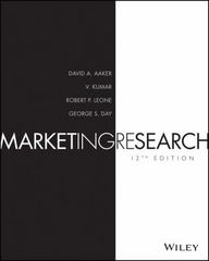 Marketing Research 12th Edition 9781119255123 1119255120