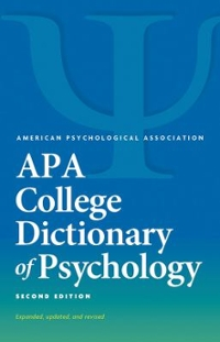 APA College Dictionary of Psychology 2nd Edition 9781433821585 1433821583