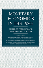 Monetary Economics in the 1980's 1st Edition 9781349101498 1349101494