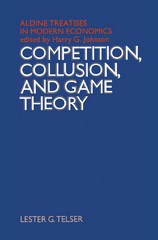 Competition, Collusion and Game Theory 1st Edition 9781349015382 1349015385