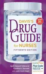 Davis's Drug Guide for Nurses 15th Edition 15th Edition 9780803657793 080365779X