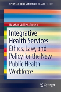 Integrative Health Services 1st Edition 9783319298573 3319298577