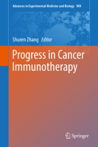 Progress in Cancer Immunotherapy 1st Edition 9789401775557 9401775559