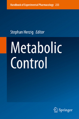 Metabolic Control 1st Edition 9783319298061 3319298062
