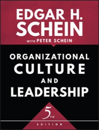Organizational Culture and Leadership 5th Edition 9781119212041 1119212049