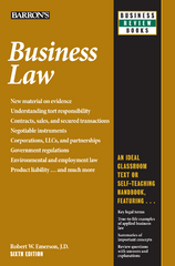 Business Law 6th Edition 9781438067896 1438067895