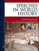 Speeches in World History 1st edition 9780816074044 0816074046